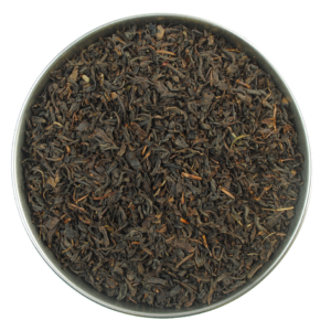 Aerial view of chinese keemun black tea organic