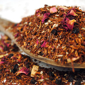 A rooibos tea with berries and rhubarb