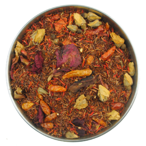 A rooibos hot cherry spice